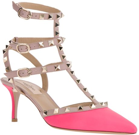 Valentino Crystal-Embellished Satin Sandals in Pink (rose)