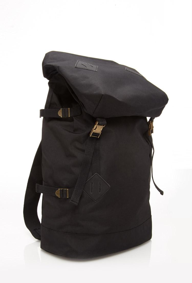 Forever 21 Utility Backpack In Black For Men Lyst
