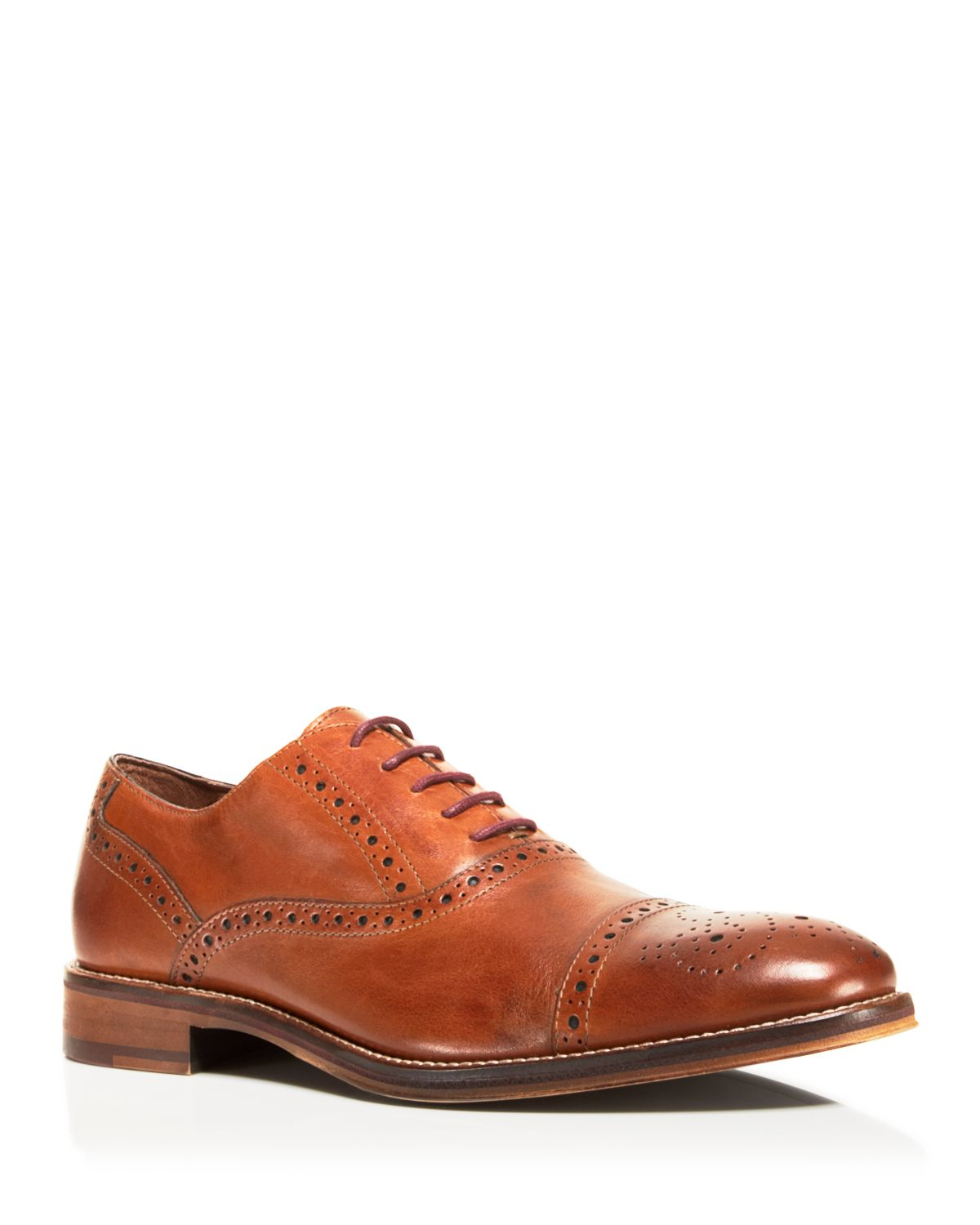 Johnston Amp Murphy Conard Cap Toe Oxfords In Brown For Men