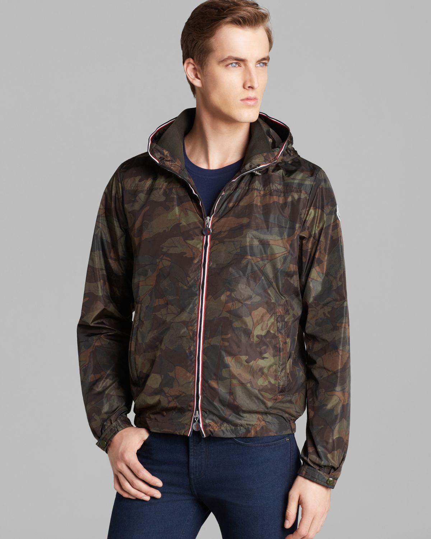 b25d2e3990e87 Moncler Nath Camo Lightweight Jacket in Green for Men - Lyst