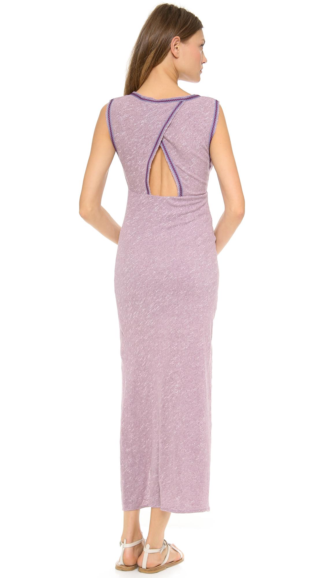 67436f28d9a29 Lyst - Free People Sabrina Maxi Dress in Purple
