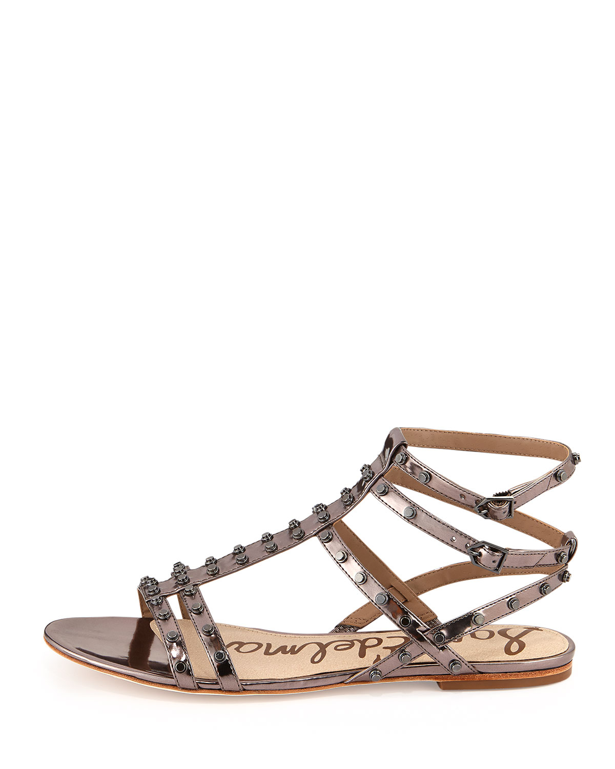 Lyst Sam Edelman Berkeley Metallic Studded Sandal In