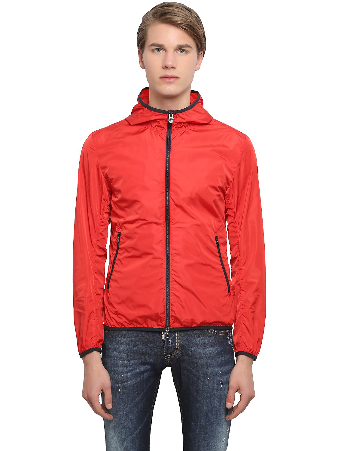Colmar Light Nylon Windbreaker Jacket in Red for Men | Lyst