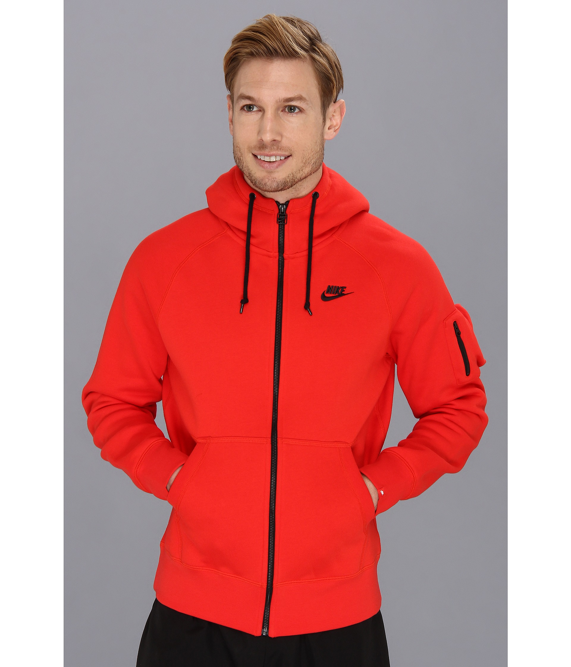 04c0f536ea Lyst - Nike Aw77 Fleece Fz Hoodie in Red for Men