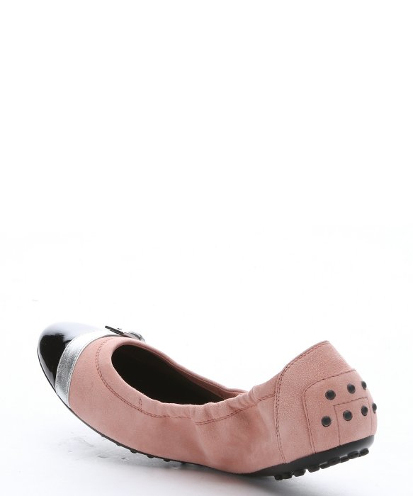 Tod's Leather Cap-Toe Flats prices sale online cheapest price for sale nicekicks for sale uKIZZf