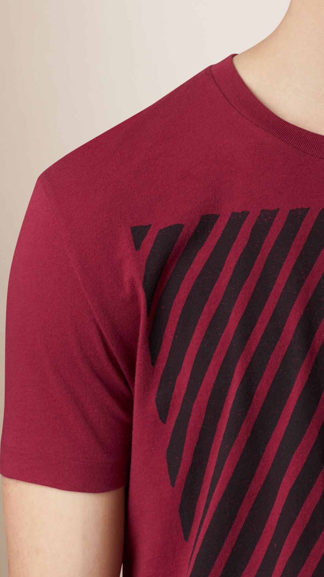 Lyst burberry abstract striped t shirt in purple for men for Purple and black striped t shirt