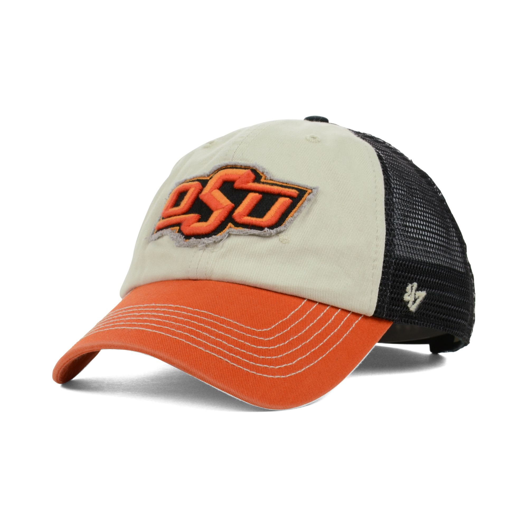 super popular 7a660 dc9be cheapest lyst 47 brand oklahoma state cowboys schist trucker cap in natural  7e887 74acf