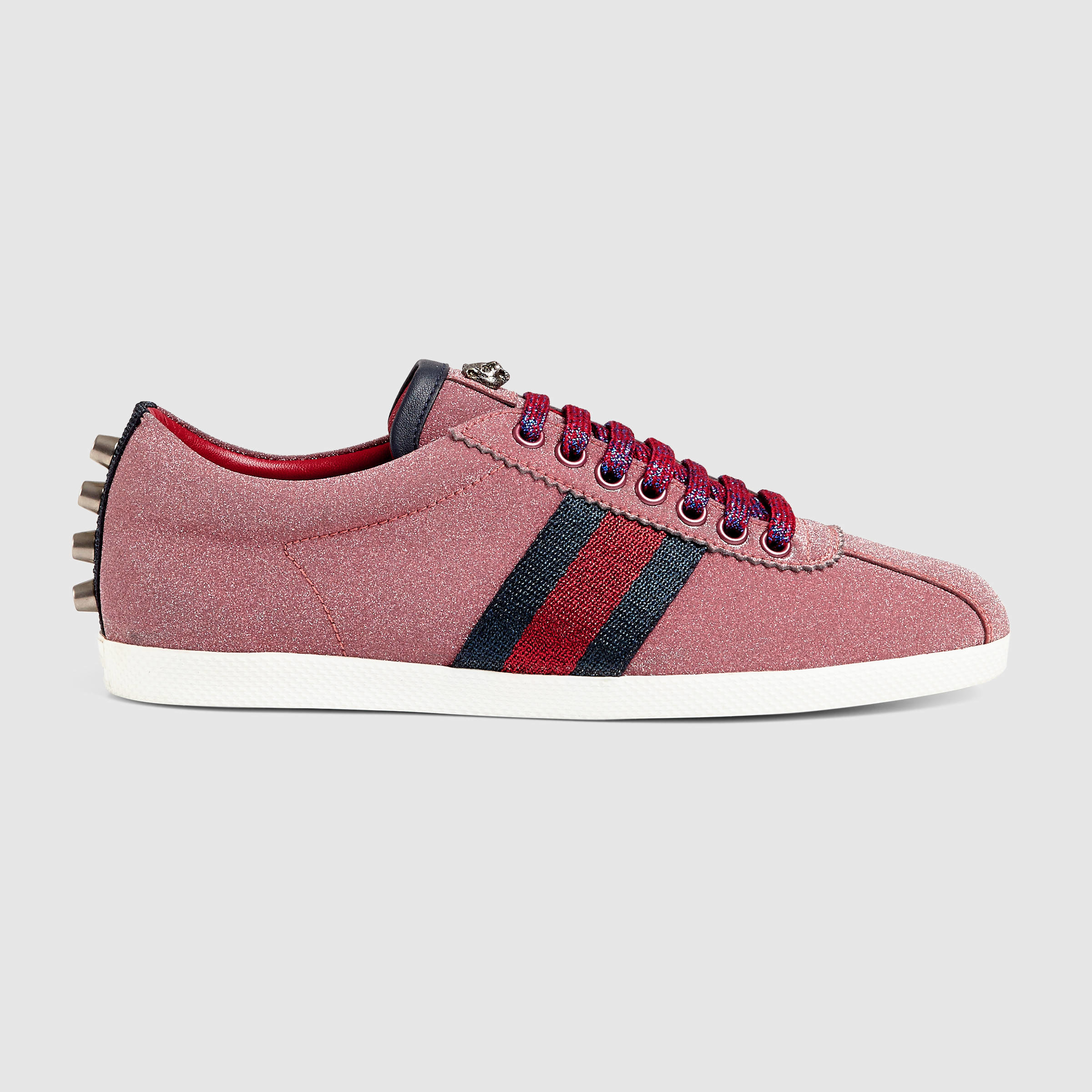 Gucci Mens Shoes Red High Top Sneaker