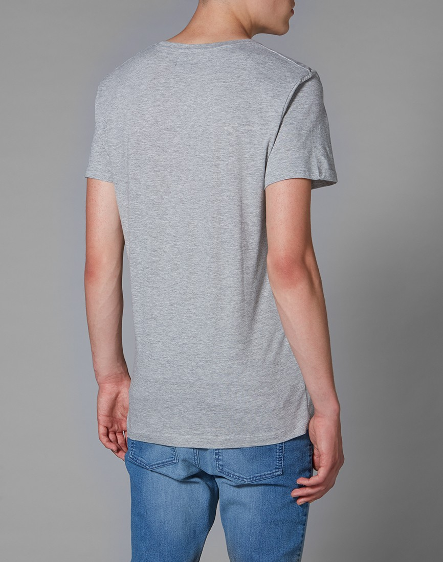 Lyst cheap monday t shirt with skull print in gray for men for Cheap t shirt print
