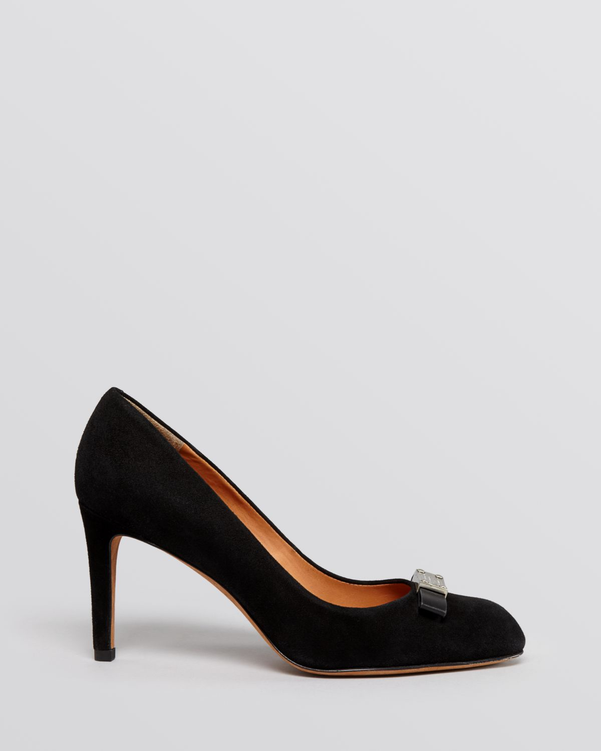 0ca7146ebc37 Lyst - Marc By Marc Jacobs Pointed Toe Pumps Tuxedo Logo Plaque in Black