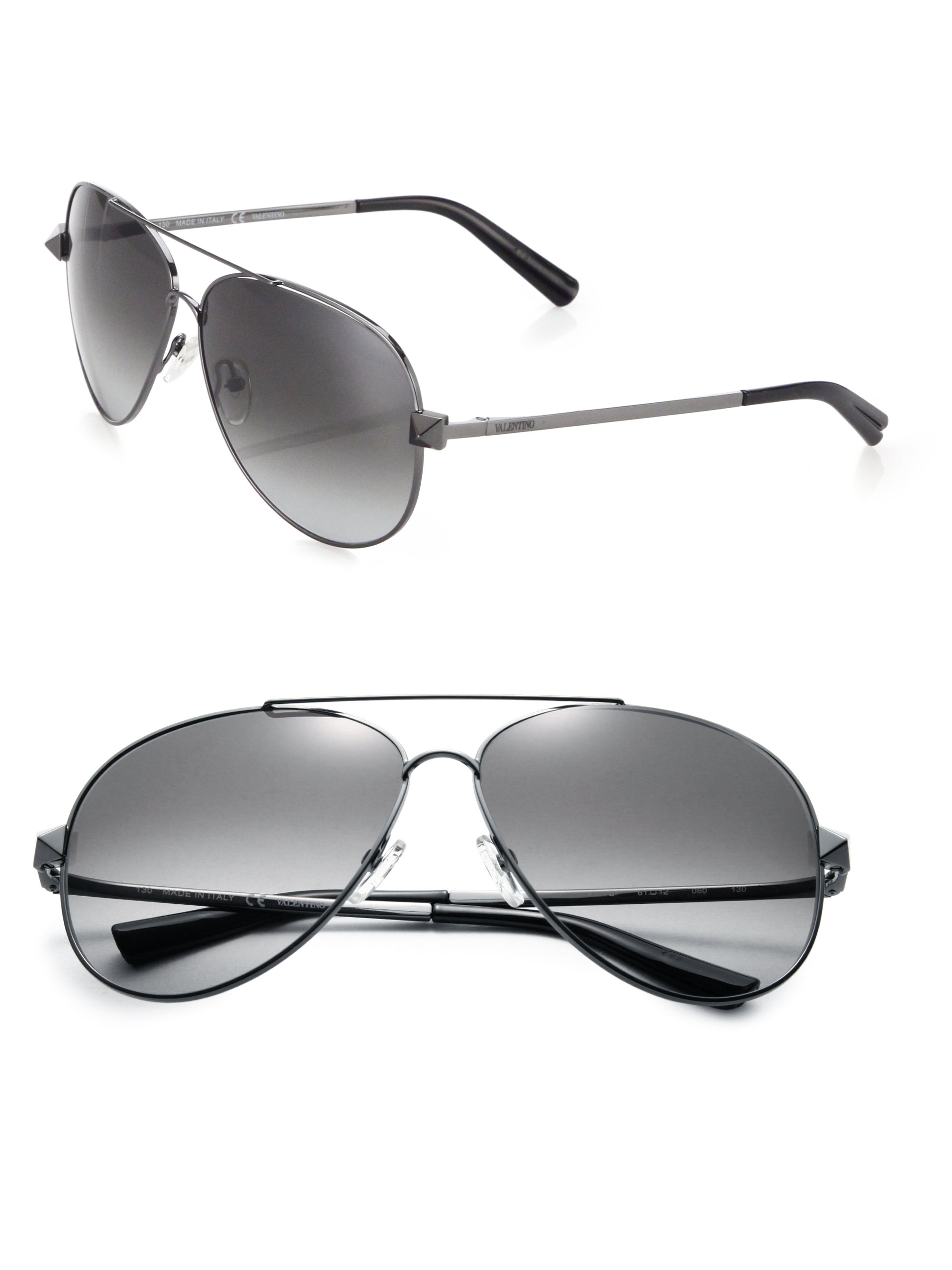2ce72fd85a724 Black Valentino Studded Sunglasses