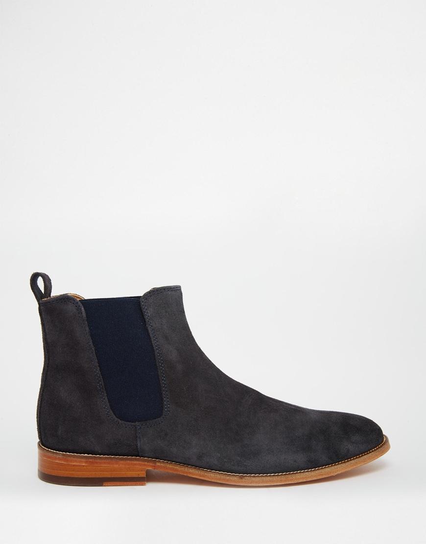 bobbies l 39 horloger suede chelsea boots in gray for men lyst. Black Bedroom Furniture Sets. Home Design Ideas