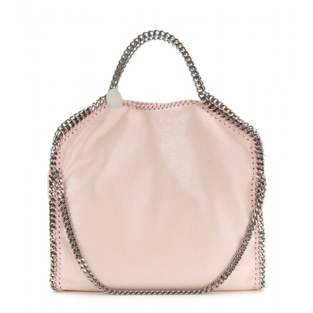stella mccartney falabella small metallic shoulder bag in pink lyst. Black Bedroom Furniture Sets. Home Design Ideas