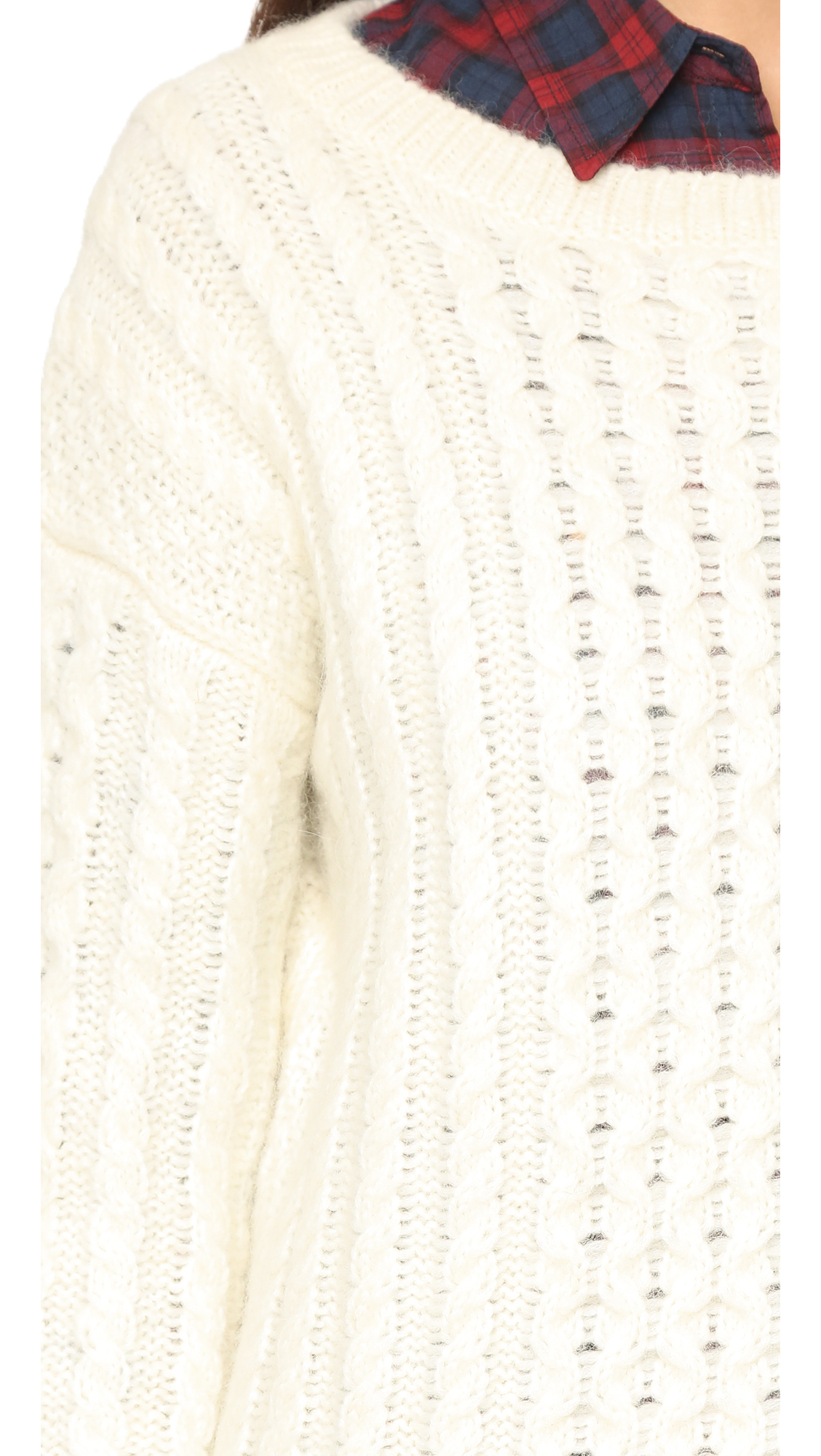 Nili lotan Kissing Cable Sweater - Soft White in White | Lyst