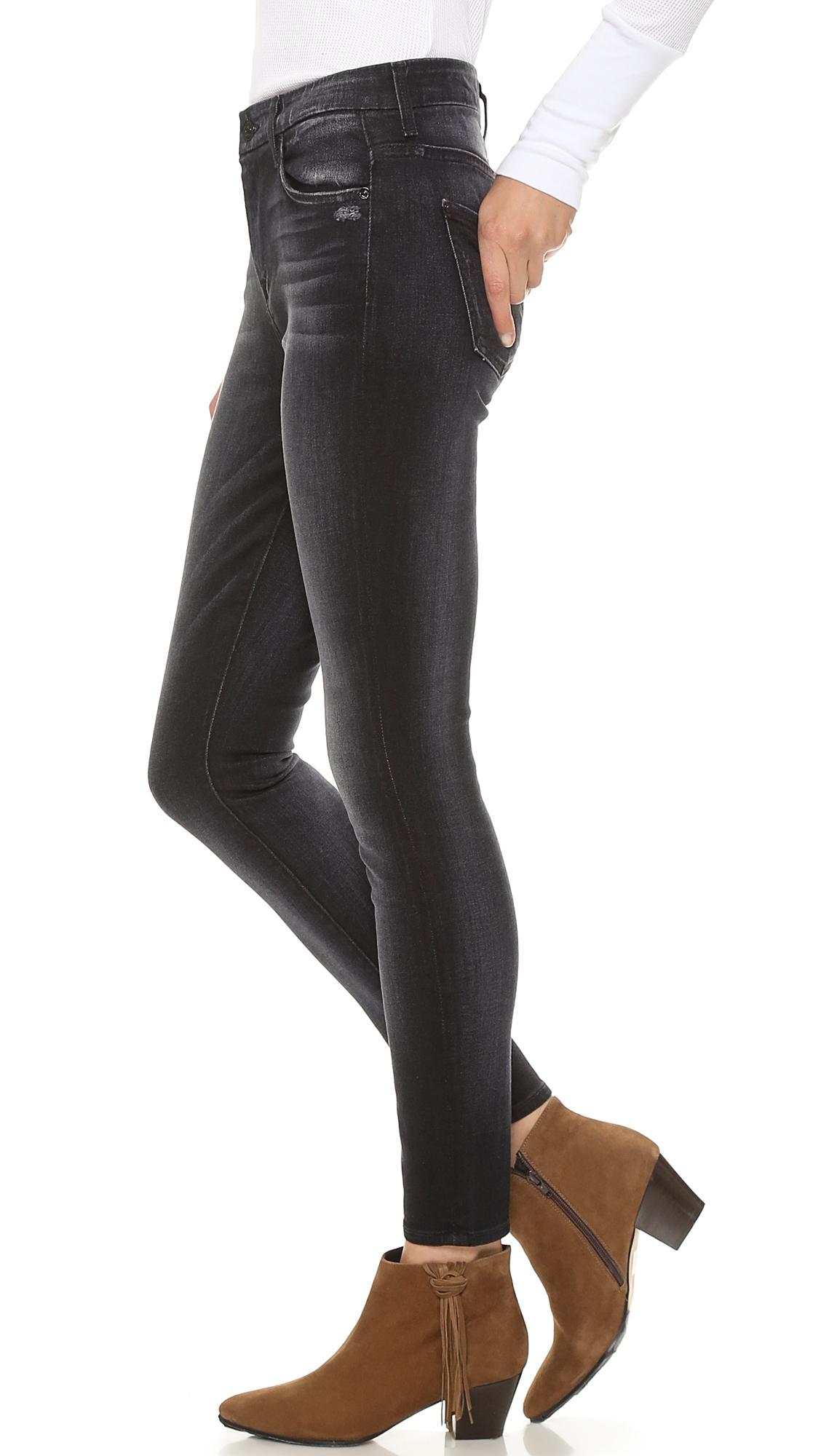 7 for all mankind High Waist Slim Illusion Skinny Jeans - Slim ...