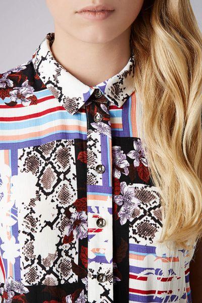 Snake Shirt Dress Floral Snake Shirt Dress