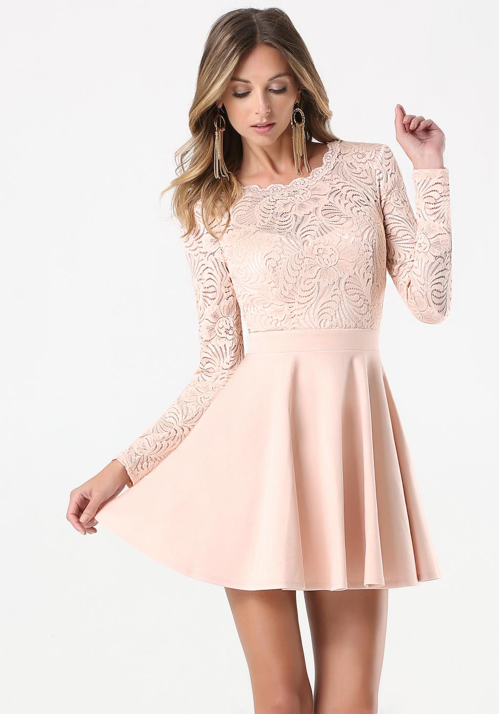 Swing Dress Cheap Popular Lace Prom Dress Buy Cheap Lace