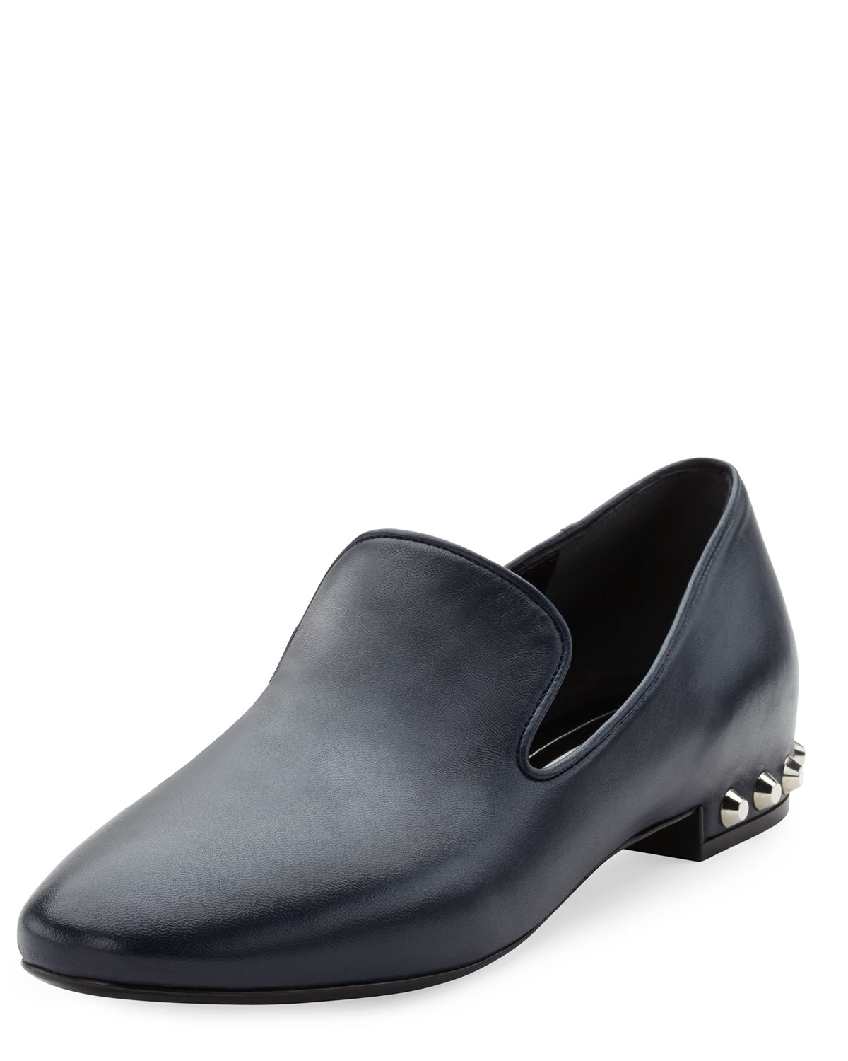 discount excellent Balenciaga Stud-Heeled Leather Loafers classic best store to get for sale zLkZsn