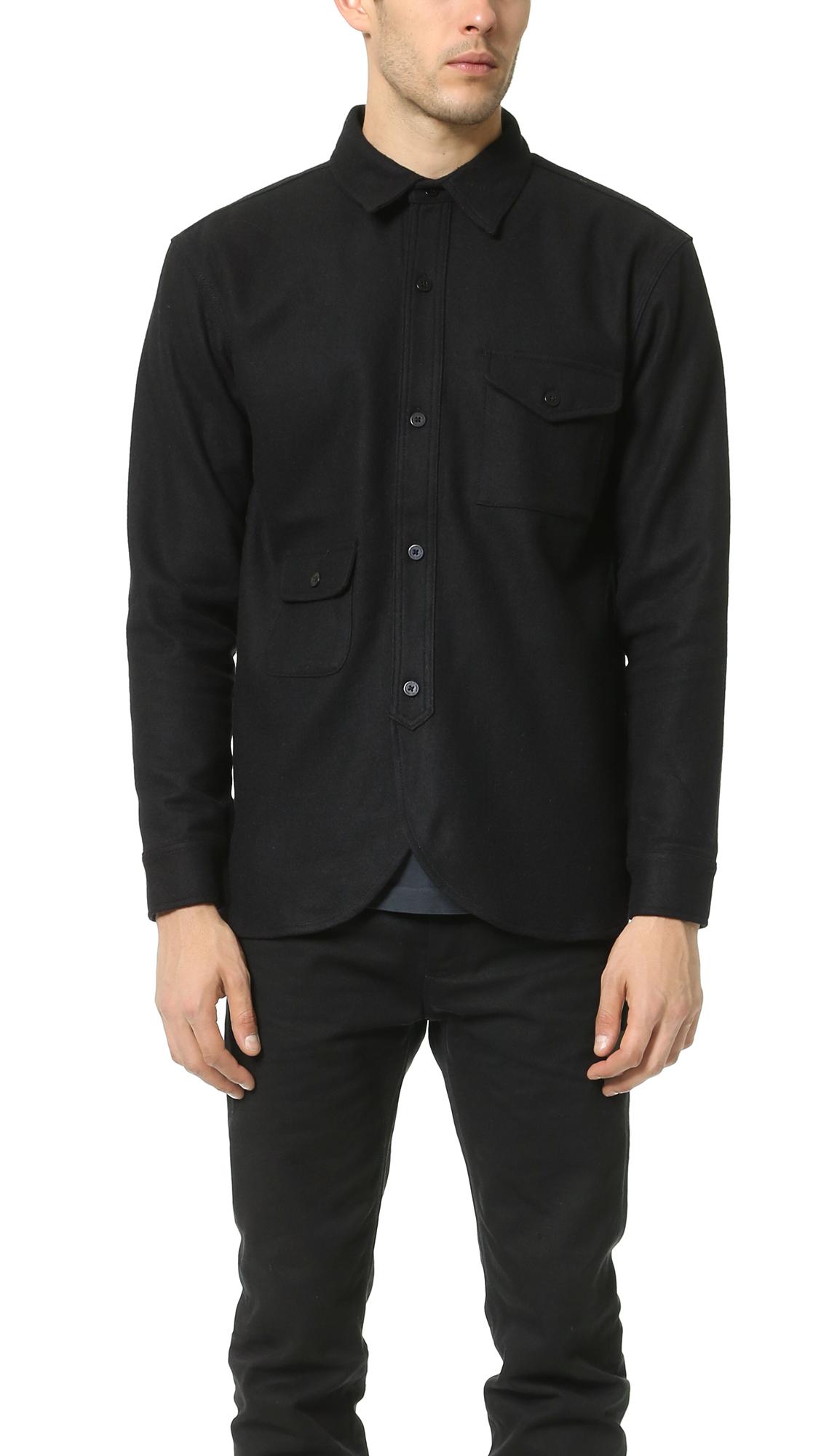 Han Kjobenhavn Army Shirt In Black For Men Lyst
