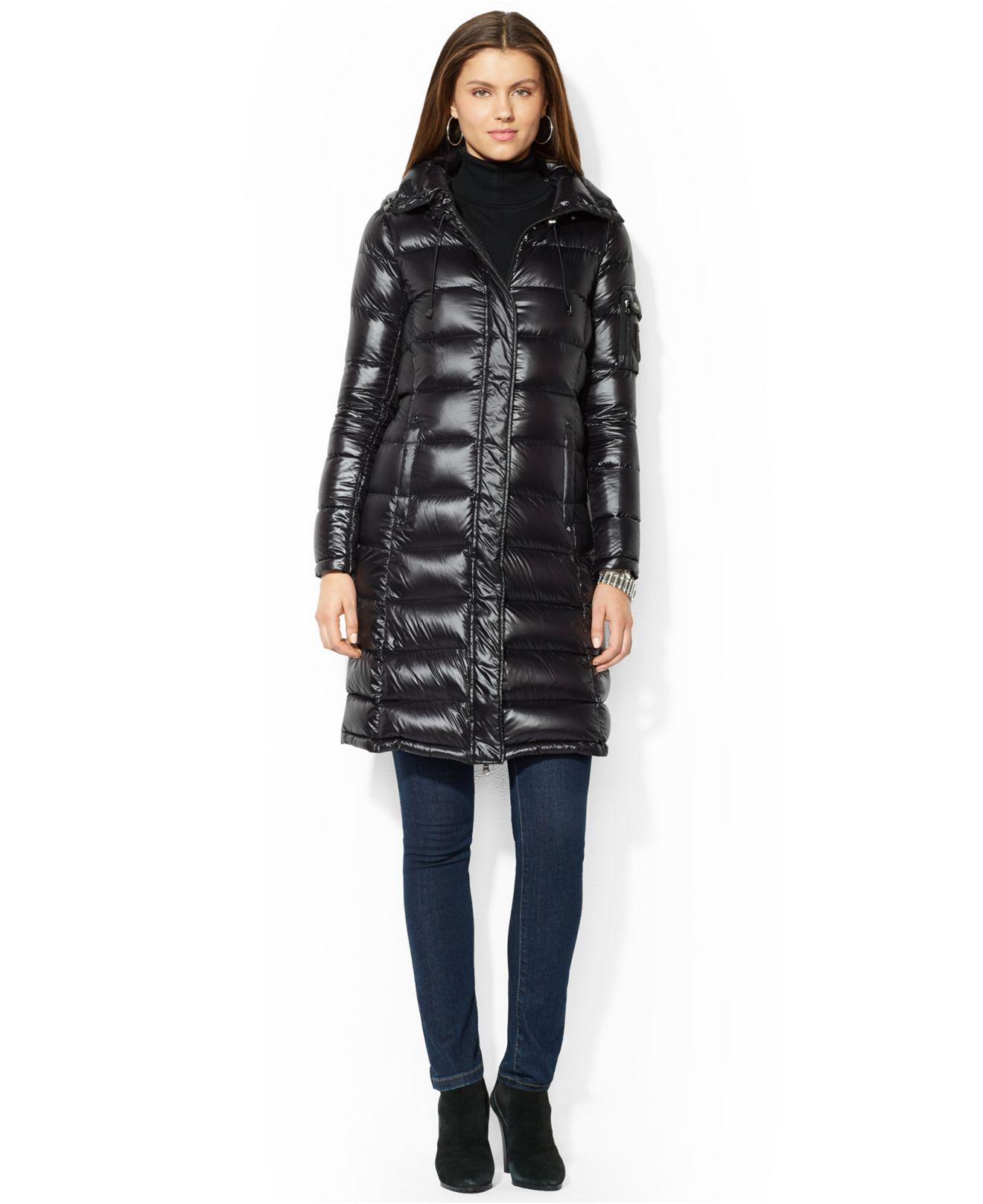 Lauren By Ralph Lauren Packable Down Puffer Coat In Black