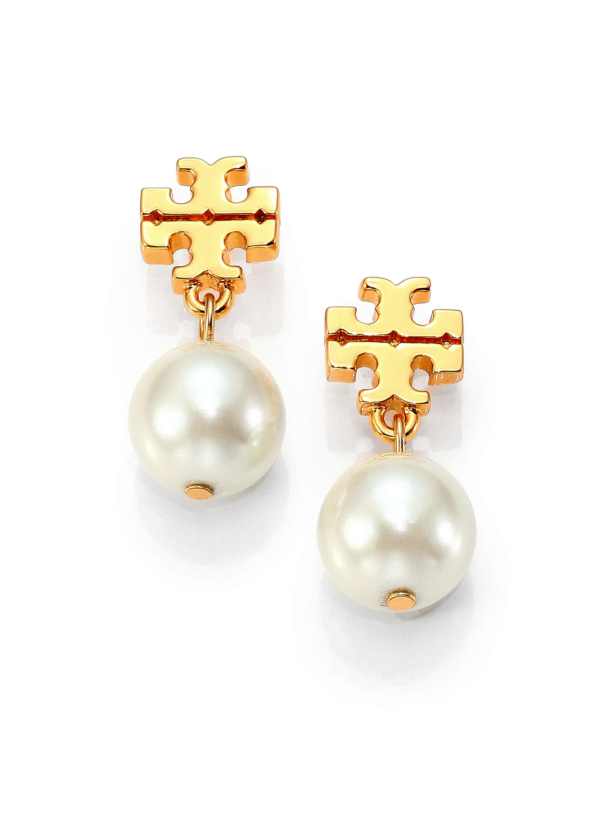 piece hanging pearl spinningdaisy earrings faux products two stud