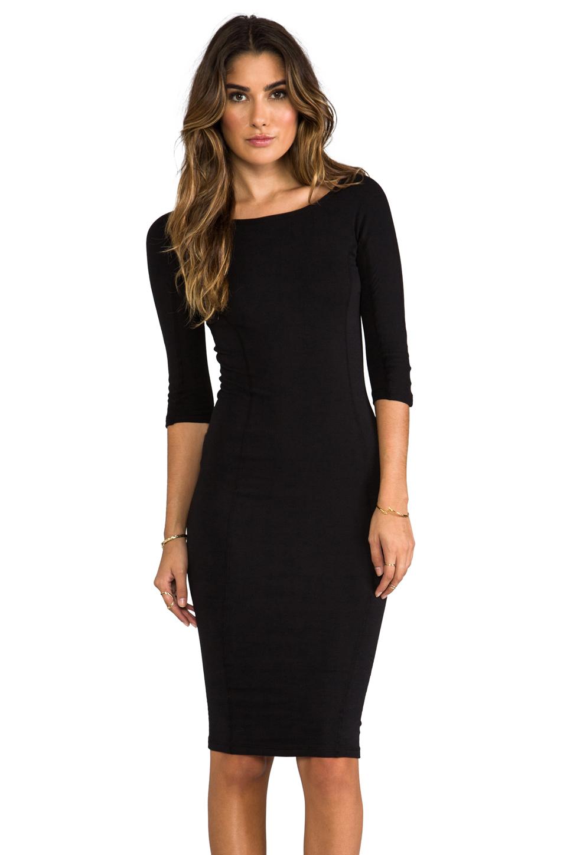 Lyst James Perse Side Panel Skinny Dress In Black In Black