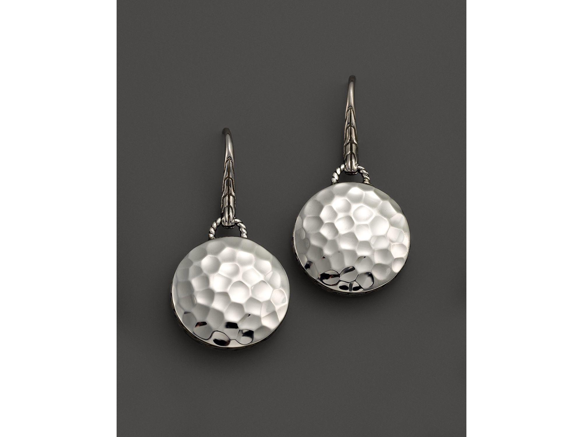 John hardy palu sterling silver round drop earrings in for John hardy jewelry earrings