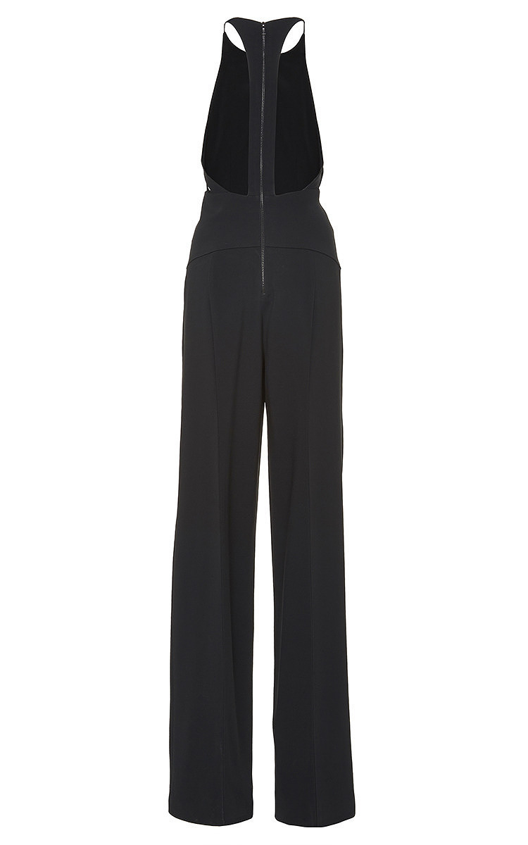 7604df5bb22 Lyst - Narciso Rodriguez Harness Back Crepe Jumpsuit in Black