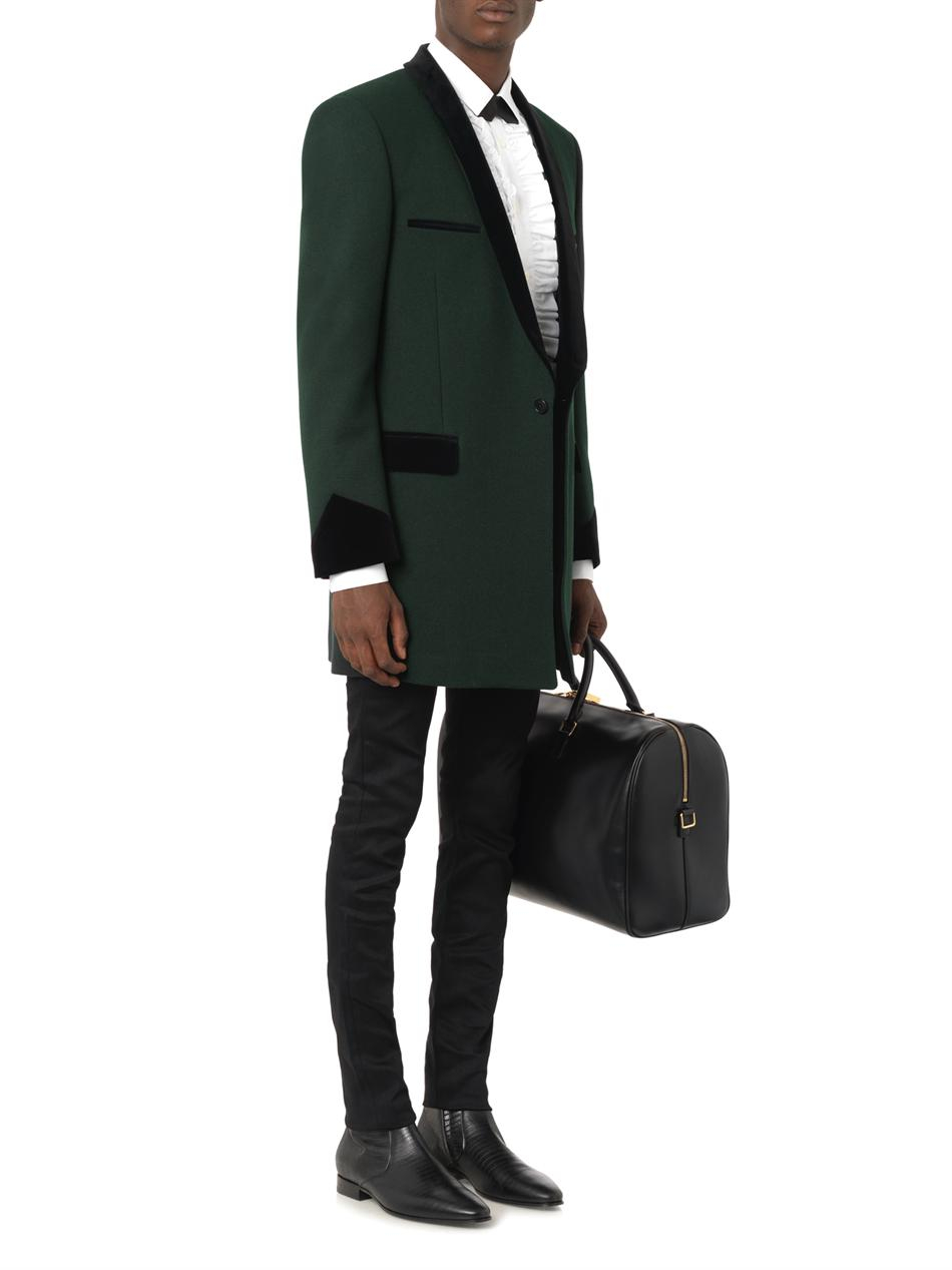 d825cf130913 Lyst - Saint Laurent Classic Duffle 24 Leather Bag in Black for Men