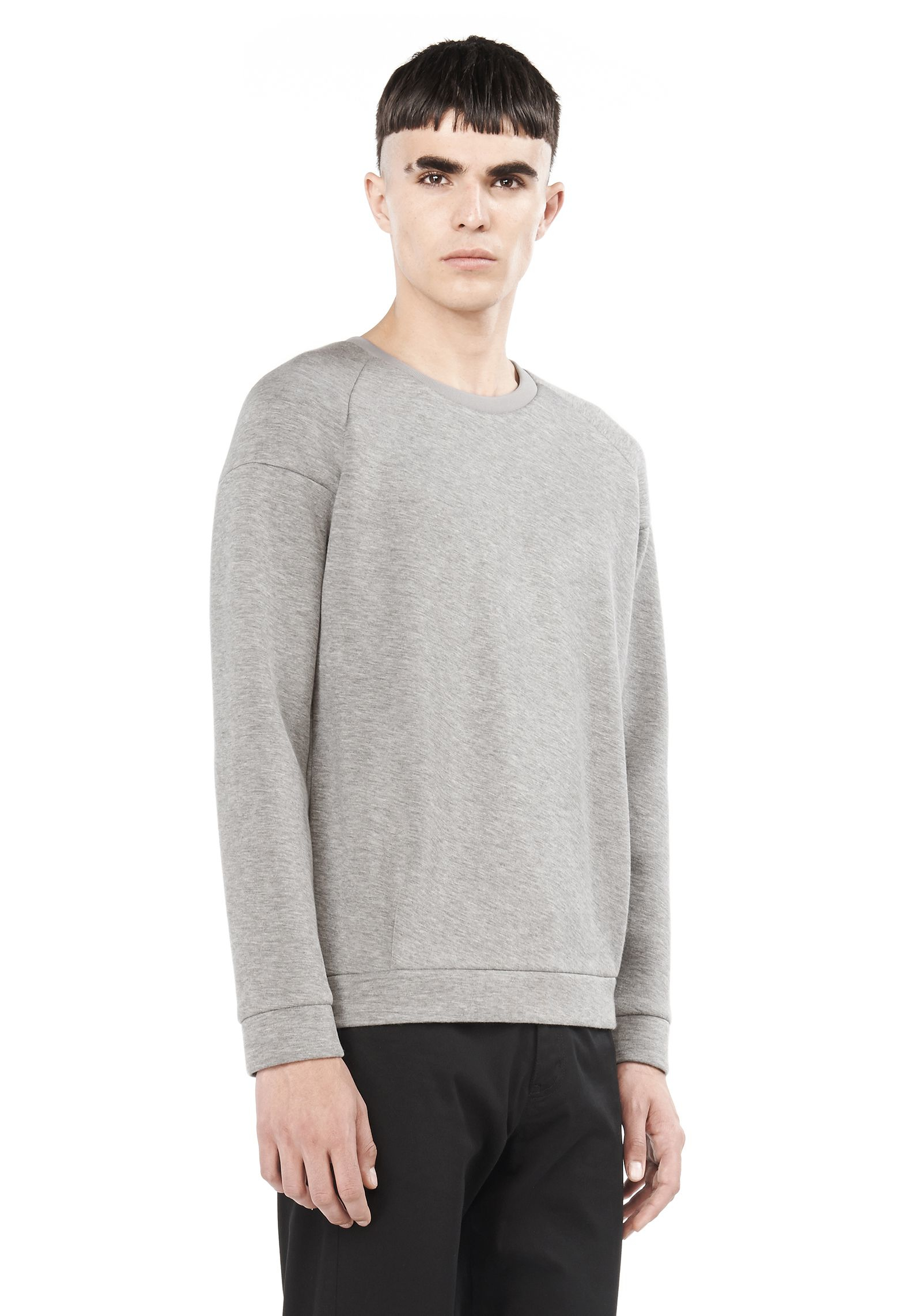 lyst t by alexander wang scuba sweatshirt in gray for men. Black Bedroom Furniture Sets. Home Design Ideas