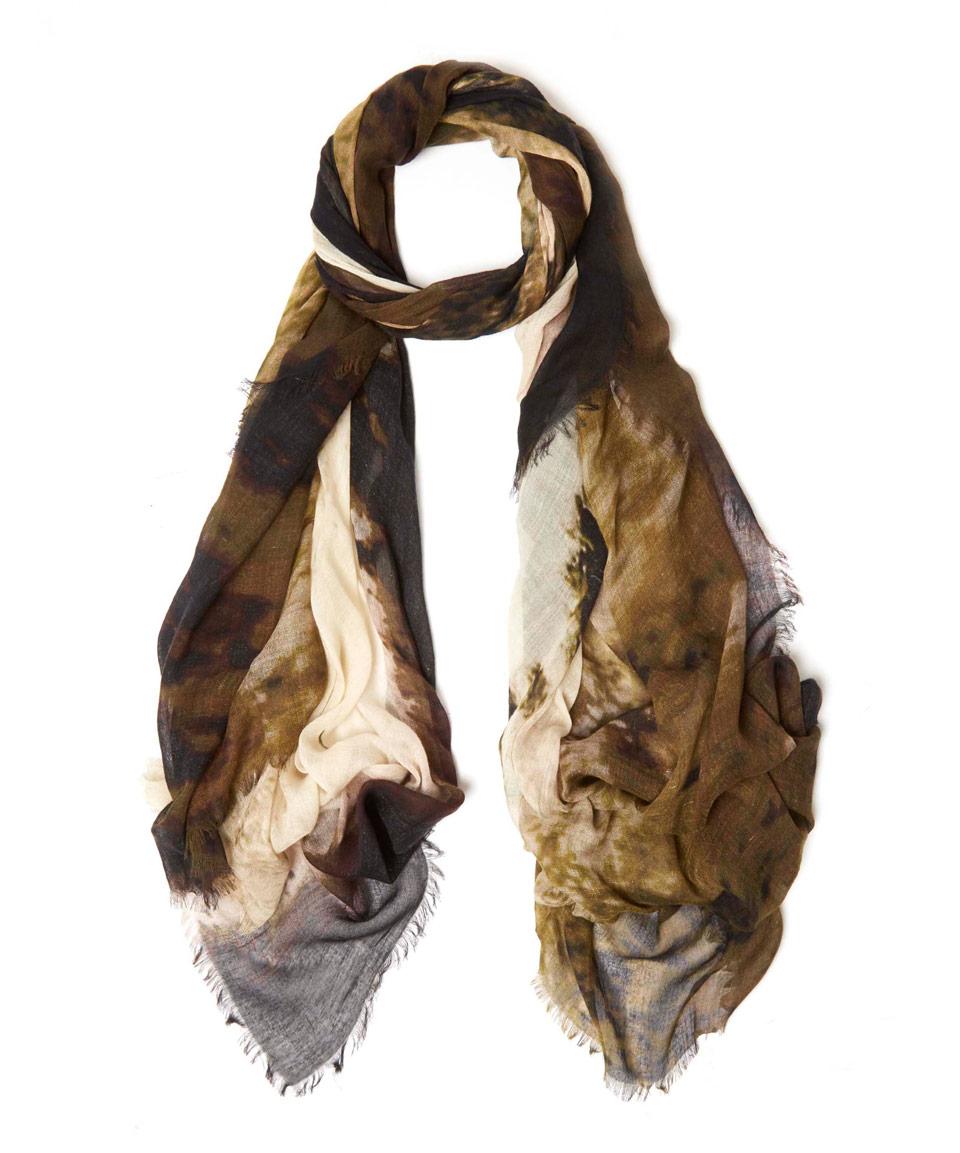 tilo burnt yellow print modal scarf in yellow lyst