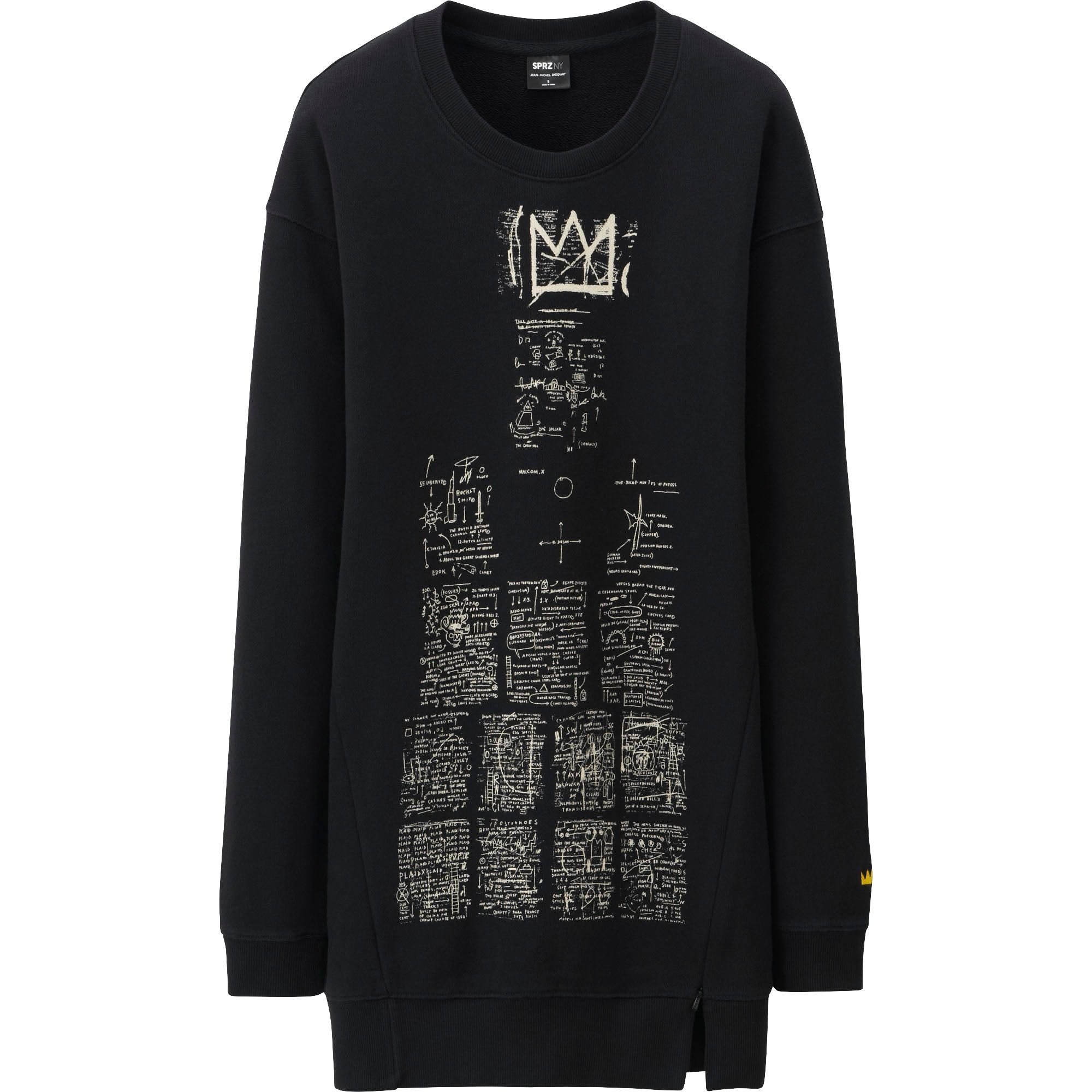 Uniqlo women sprz ny l s long sweat shirt jean michel for How to not sweat through dress shirts