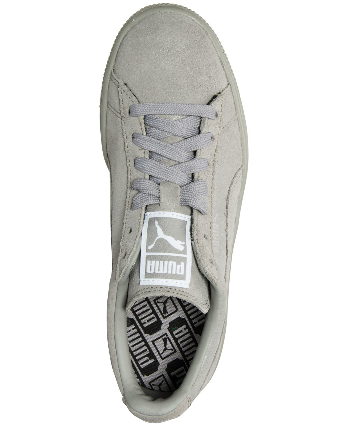 Lyst - PUMA Women s Suede Classic Matte   Shine Casual Sneakers From Finish  Line in Gray 32714316d1