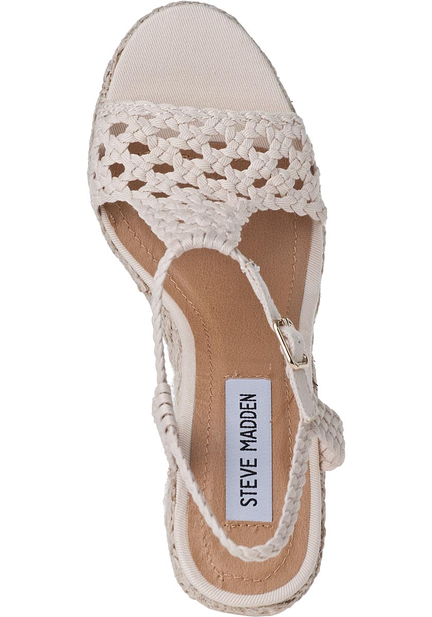 Lyst Steve Madden Manngo Wedge Espadrille Natural Fabric