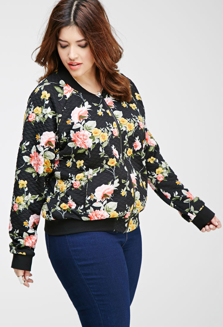Images of Floral Bomber Jacket - Fashion Trends and Models