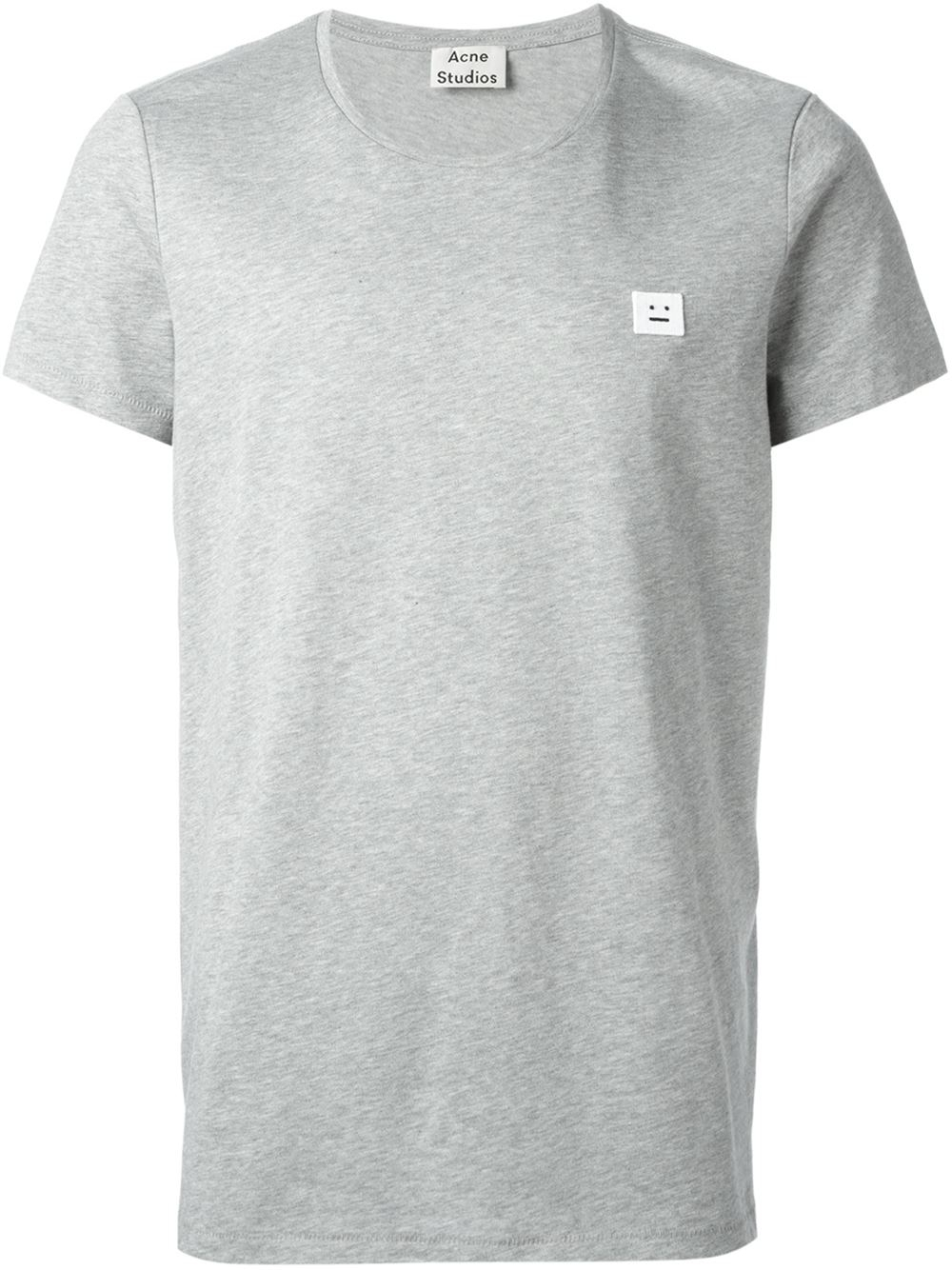 acne studios 39 standard face 39 t shirt in gray for men lyst