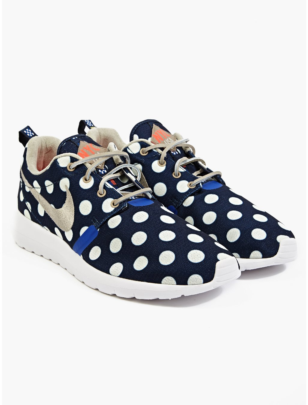 new style 2469b b0dc3 ... qs new york city pack polka dot navy 4c215 fc3a6 clearance nike air  roshe run navy blue polka dot 7857f 67bcd ...
