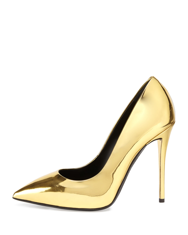 1639c0cef37 Lyst - Giuseppe Zanotti Metallic Gold Pointed-Toe Pumps in Metallic