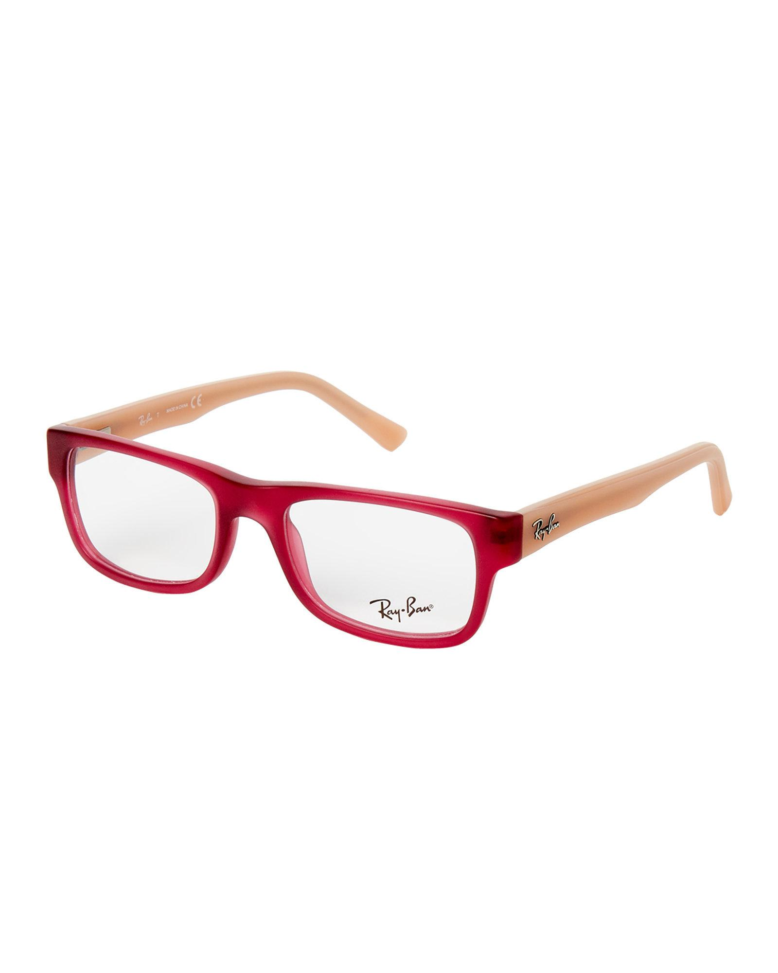 1dfab88438 Lyst - Ray-Ban Rb5268 Two-tone Rectangle Optical Frames in Red