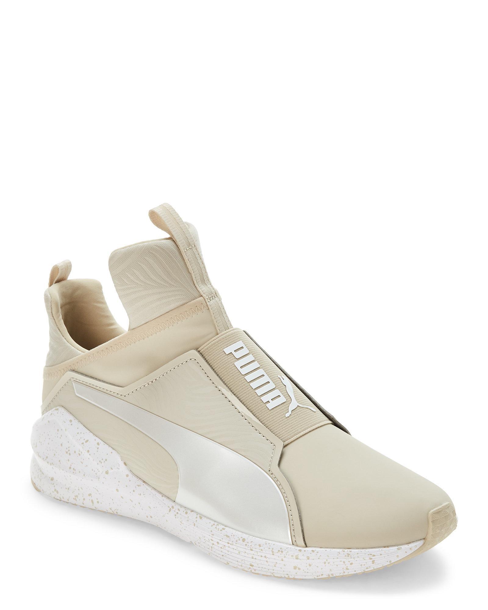 56fbc10fcf38d4 Lyst - PUMA Oatmeal   White Fierce Bleached Training Sneakers in White