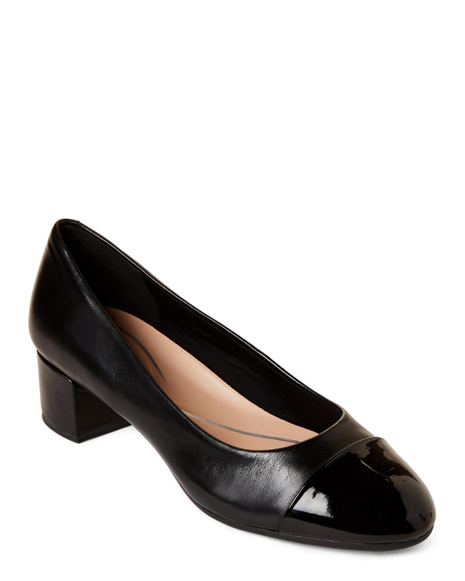 70686ba5431 Lyst - Easy Spirit Black Apricot Leather Pumps in Black