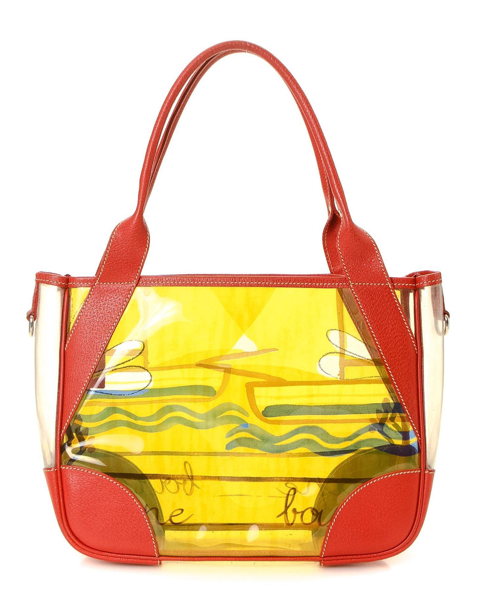 0dc2461a3320 Lyst - Prada Vinyl Beach Bag - Vintage