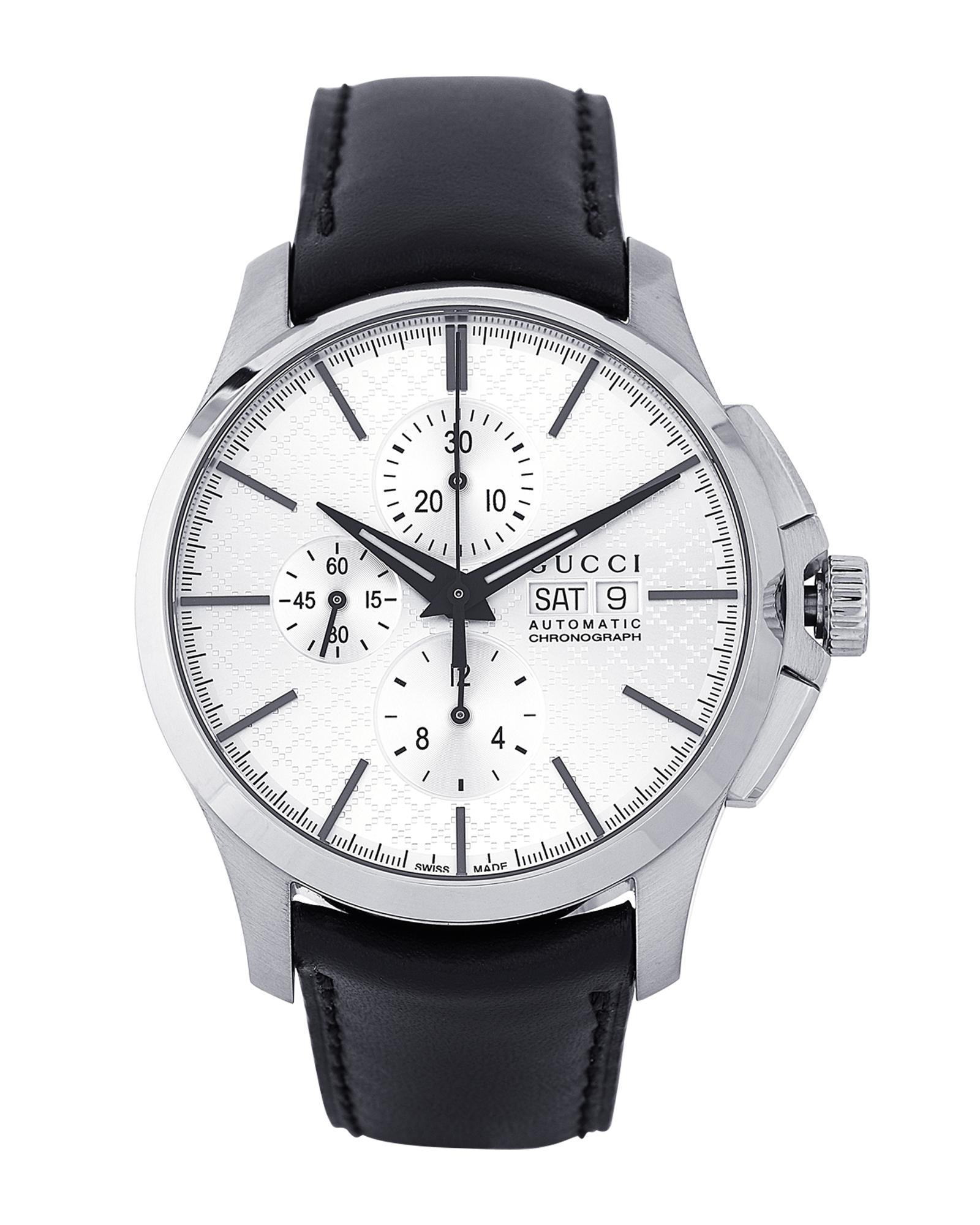 d7cd083b1d0 Gucci. Men s White Ya126265 Silver-tone   Black Automatic Chronograph G-timeless  Watch