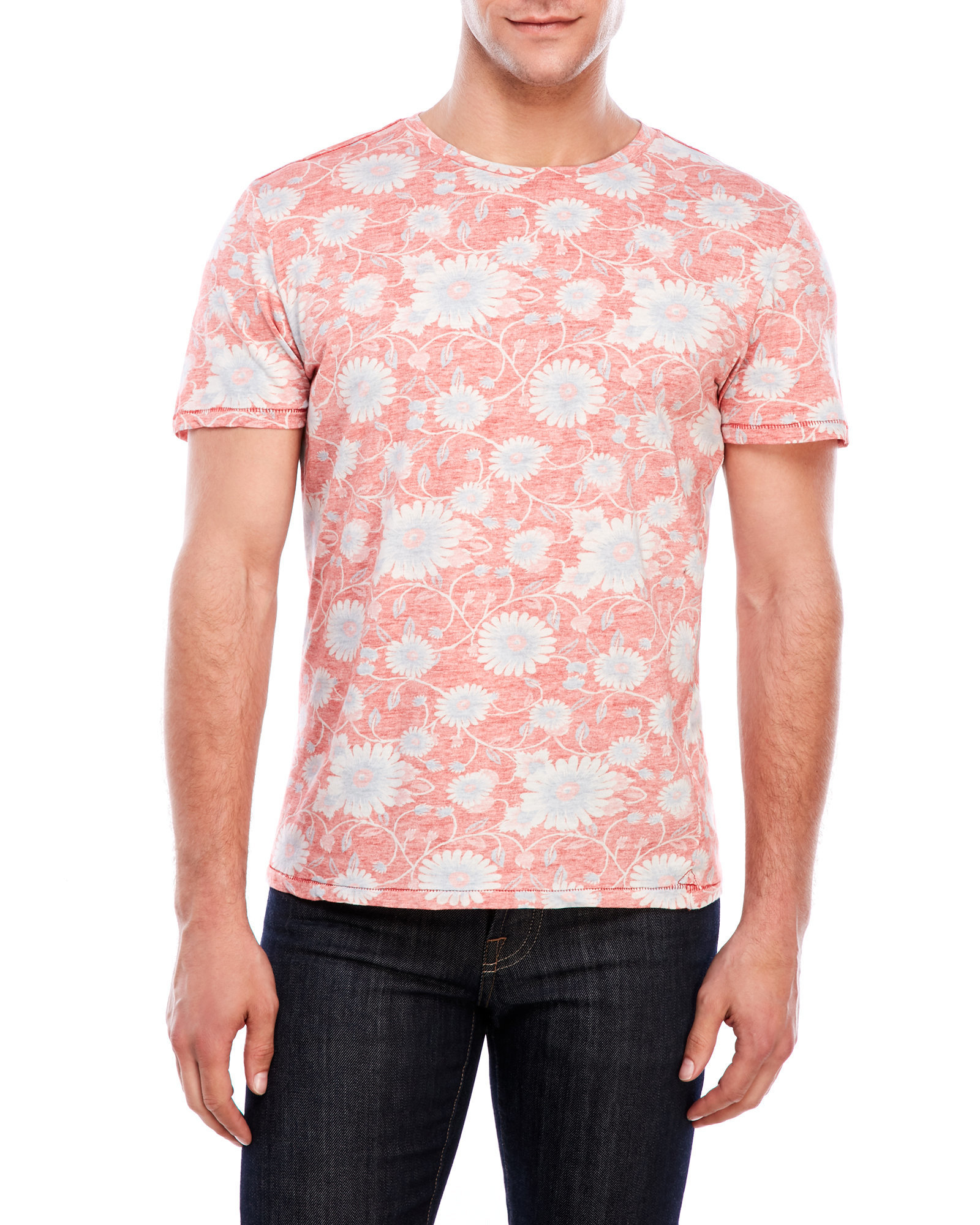 Benson reversible printed tee in pink for men lyst for Century 21 dress shirts