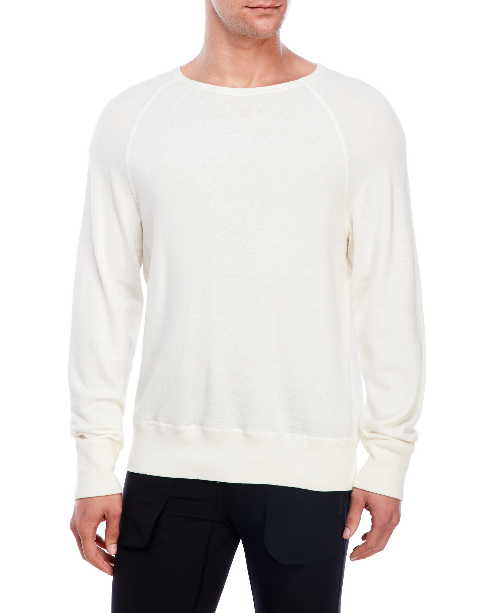 acne studios terry knit raglan pullover in white for men lyst. Black Bedroom Furniture Sets. Home Design Ideas