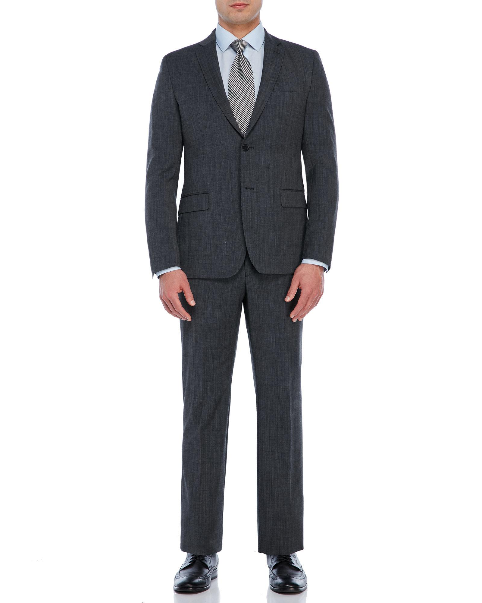 bdb81f93 Lyst - Versace Black Pindot Suit in Black for Men
