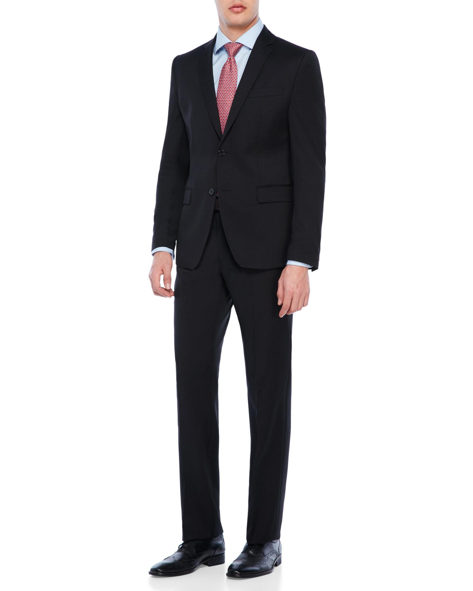 Versace Black Suit In Black For Men