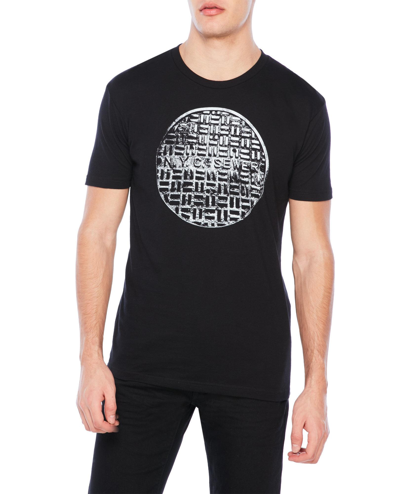 Five crown nyc sewer tee in black for men lyst for Century 21 dress shirts