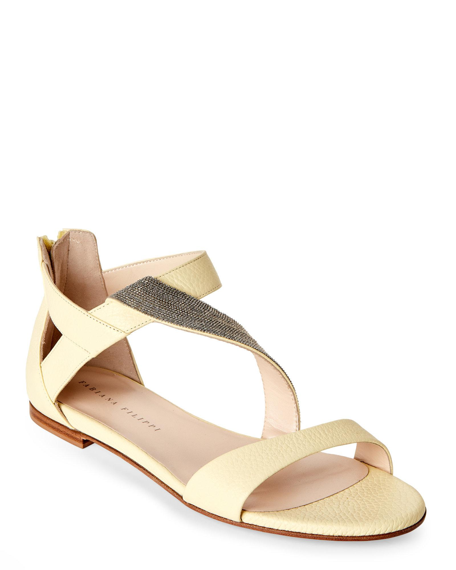 fashion Style sale online Fabiana Filippi Leather Embellished Sandals outlet very cheap free shipping footlocker pictures discount order buy cheap with mastercard 8nsDUG