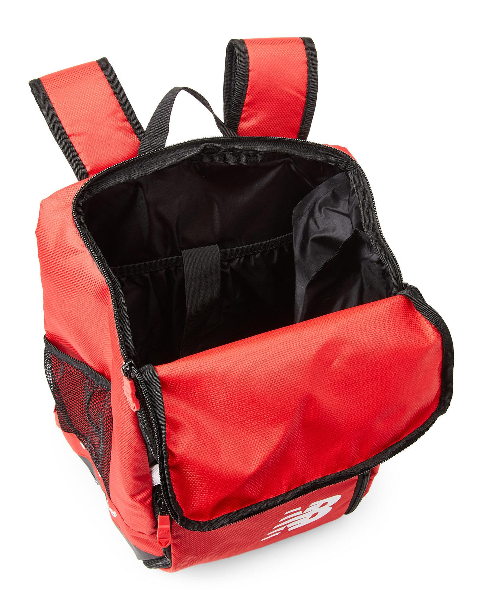eaff603989 Lyst - New Balance Scarlet Team Ball Backpack in Red